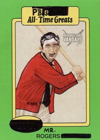 Fan Art (Baseball Card Vandals) - The Mister Rogers