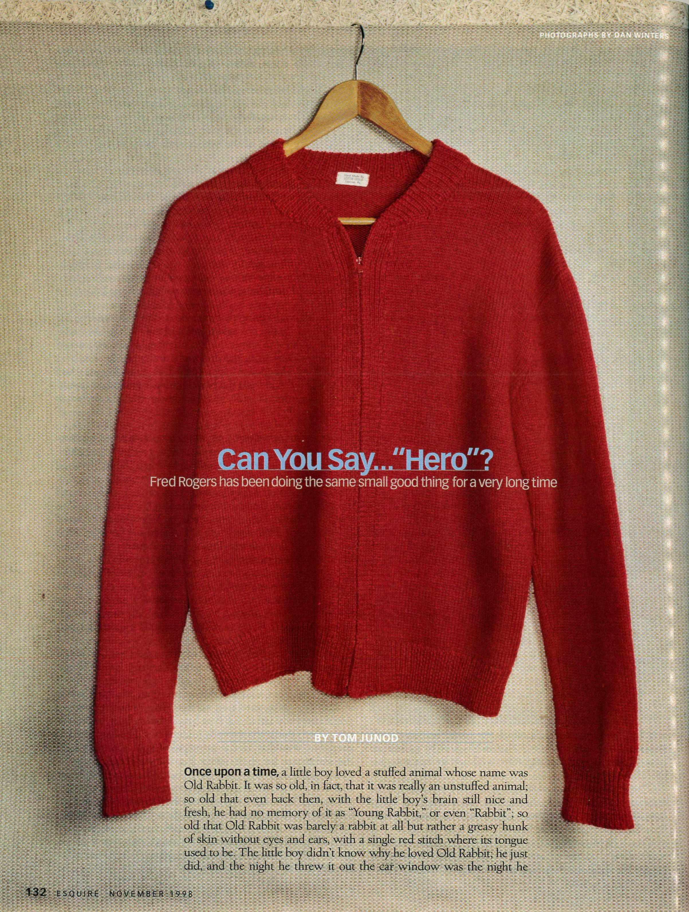 Esquire Magazine The Mister Rogers Neighborhood Archive